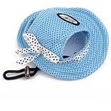 Alcoa Prime Small Pet Dog Puppy Cat Princess Mesh Breathable Hat Cap Sunbonnet-Blue