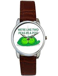 Bigowl We're Like Two Peas In A Pod Analog Women's Wrist Watch 2003795903-RS3-S-BRW