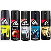 Adidas Pure Game, Team Force, Dynamic Pulse, Ice Dive, Victory League Deo Combo Pack , (Pack Of 5)
