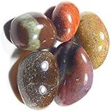 Urancia™ Natural Jasper Tumbled Stone 1piece With Free Topaz Sample