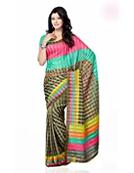 Shariyar Multi Color Art Silk Printed Saree PRG355
