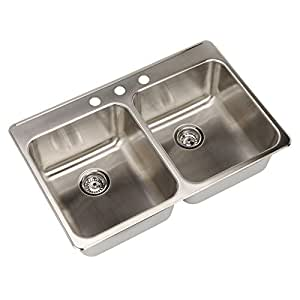 kitchen sink 38 x 22 33 38 quot x 22 quot drop in 3 basin kitchen sink br 8425