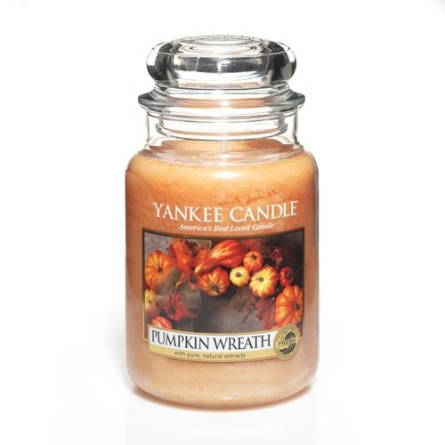 Pumpkin Wreath Large Jar Candle