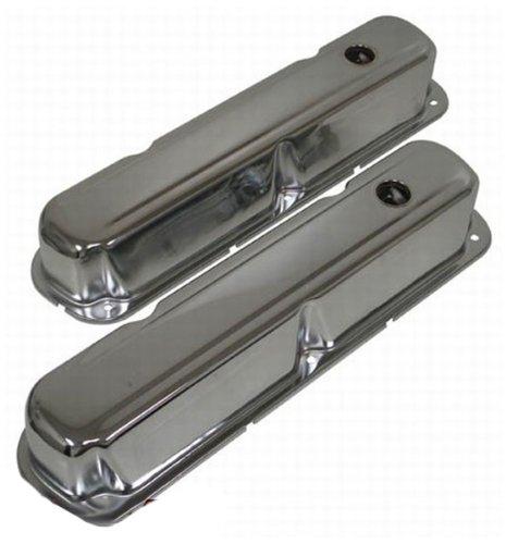 1967-89 Mopar Small Block 318-340-360 Short Steel Valve Covers – Chrome