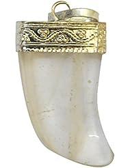 Reiki Crystal Products White Clear Quartz Kirpan Shape Pendant Healing Gemstone