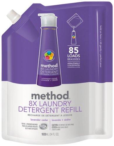 Method Lavender Cedar 8X Laundry Detergent Refill 34 oz