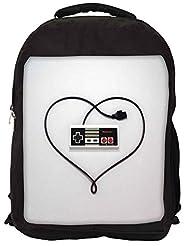 Snoogg Entertainment System Controller Love Backpack Rucksack School Travel Unisex Casual Canvas Bag Bookbag Satchel