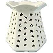 Kraftnation Ceramic White Stars Electric Aroma Oil Diffuser