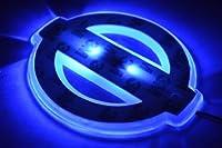 KND(株式会社カナダ) LEDエンブレム 光るエンブレム 発光プレート NISSAN 日産(ニッサン) W94XH80 青(ブルー) ティアナ 【リア】J32 など