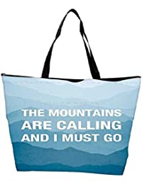 Snoogg Wanderlust Mountains Are Calling 2868 Waterproof Bag Made Of High Strength Nylon