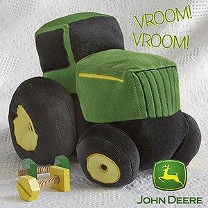 Amazon.com: Boys Plush John Deere Tractor Toy: Toys & Games