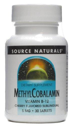 Source Naturals Methylcobalamin 5 mg Cherry Flavored Subling