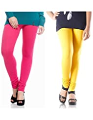 Style Acquainted People Women's Cotton Leggings (Pack Of 2) - B015J8ATWG