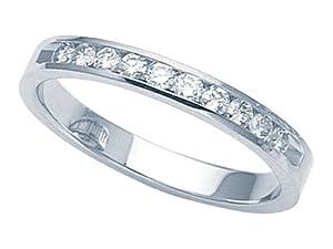 Karina B Round Diamonds Band in Platinum 950 Size 4.5