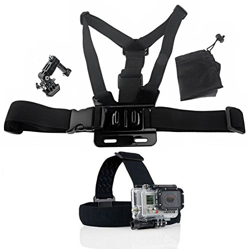 4 In 1 Design: Head Strap + Chest Strap + Three-way Adjustment Base + Storage Bag For Your For Gopro Hero 1 2 3 HERO3+ 4