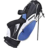 Precise ES Stand Bag With Removable Side Pocket Panel For Customization, Blue