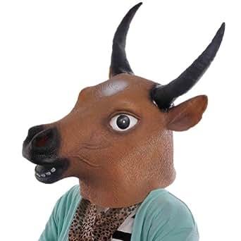 Amazon.com: KingMas Halloween Cow Bull Head Latex Mask