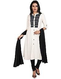 Vastra Vinod Women's Cotton Straight Salwar Suit Set