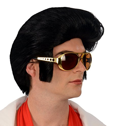 1960s Rock 'n Roll Black Wig