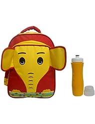 Combo RSC Elephant School Bag (Kids 4-9 Years Age) And Trueware Aqua Sipper - B01IREDHU0