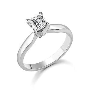 Tantalizing Cheap Solitaire Diamond Ring Half Carat Princess Cut Diamond on 10k Gold