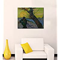 Tallenge - Vincent Van Gogh - The Sower - Large Size Ready To Hang Gallery Wrap Canvas Art Print For Home And...