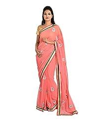 Jyoti Sarees Women's Chiffon Saree (Multicolour, MK14)