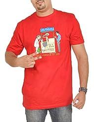 Stallion Cottons Men's Round Neck Cotton T-Shirt - B00ZIHNTWG