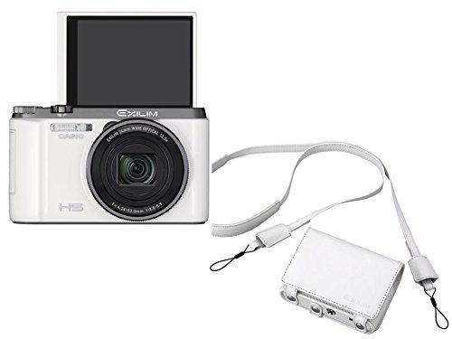 【日本限定セット】CASIO デジタルカメラ EXILIM ZR1100 ホワイト1610万画素 EX-ZR1100WESET (純正ケース付)