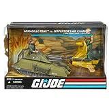 G.I. Joe Armadillo Tank vs. Serpentor's Air Chariot