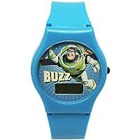 Light Blue Toy Story Buzz Lightyear Digital Face Watch