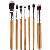 Imported 7Pcs Makeup Cosmetic Blush Brush Foundation Powder Eye Shadow Lip Brushes