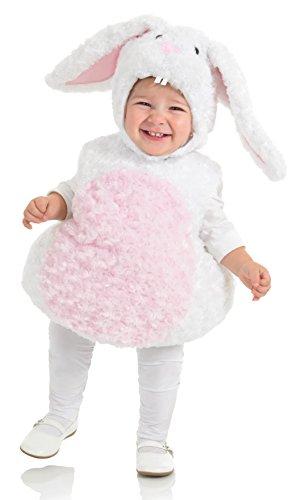 Underwraps Baby's Rabbit Belly-Babies, White/Pink, Medium