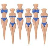Banggood 6PCS Novelty Bikini Nude Lady Golf Tees Divot Tools Joke Gift Stag Party Fun