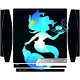 The Little Mermaid Holding Pearl Blue Silhouette Design Print Image Pattern Playstation 3 & PS3 Slim Vinyl Decal Sticker Skin by Trendy Accessories