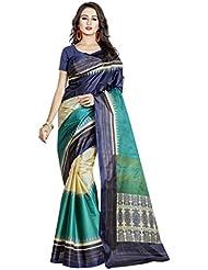 Viva N Diva Women's Clothing Designer Party Wear Low Price Sale Offer Navy Blue, Sea Green & Beige Color Art Silk...