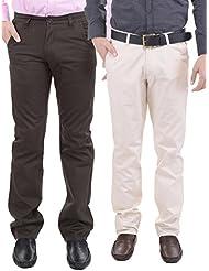 AARP'S Slim Fit Mens Casual Trousers Pack Of 2