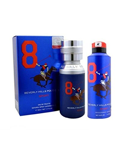 Beverly Hills Polo Club Sports 8 Combo Of Perfume And Deodorant For Men