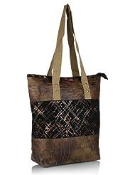 Home Heart Women's Eco Friendly Tote Bag (Brown/Black) - B00KG7VZ06