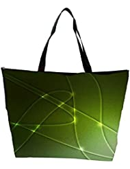 Snoogg Abstract Green Shapes Background Texture Waterproof Bag Made Of High Strength Nylon