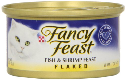 Fancy Feast Flaked Fish and Shrimp Wet Cat Food