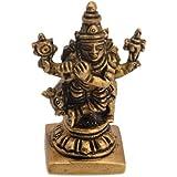 Classic Auspicious Idol Of Lord Krishna Small Decorative Brass Piece By Vyomshop BH05523