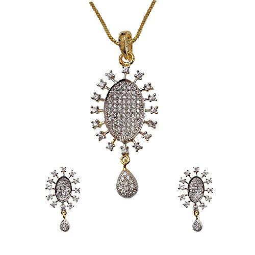 Sheetal Jewellery Silver & Golden Brass & Alloy Pendant Set For Women - B00TIH0XPS