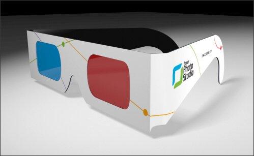 3Dメガネ 【5個セット・ボール紙製】