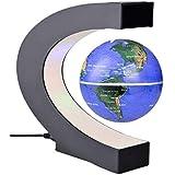 Antigravity Floating Magnetic Globe With LED Light Gift Decoration (Blue)