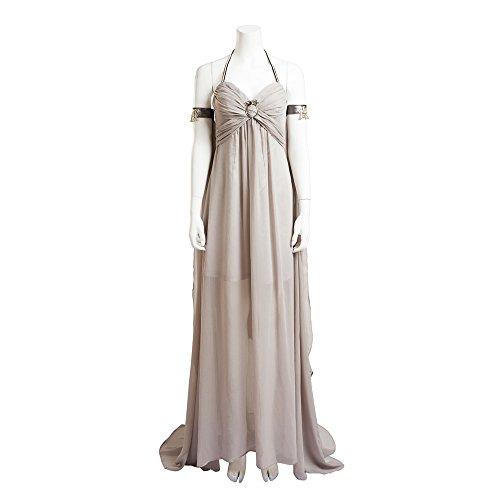 Game of Thrones Daenerys Targaryen Cosplay Long Grey Dress Costume