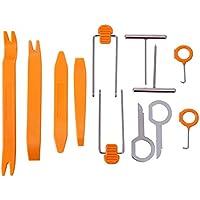 HDE 12 Pcs Auto Pry Tools Kit Door Trim Panel Dash Stereo Radio Interior Light Removal