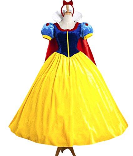 Halloween 2017 Disney Costumes Plus Size & Standard Women's Costume Characters - Women's Costume CharactersAdult Women's Halloween Deluxe Snow White Costume Princess Outfit Full Set Standard & Plus Sizes - XS - 3X