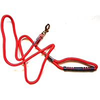 MeraPuppy Rope Leash With Rubber Grip & Strong Brass Hook - Medium *Color May Vary