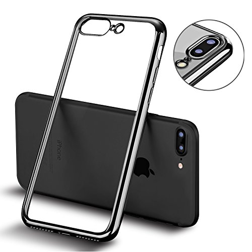Coque iPhone 7 Plus, MTURE Placage Coque iPhone 7 Plus Housse Etui Couverture Gel Silicone Clair Transparente Case Ultra Mince Ultra Léger TPU Bumper ...